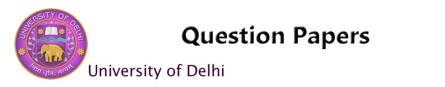 DU Question paper logo large