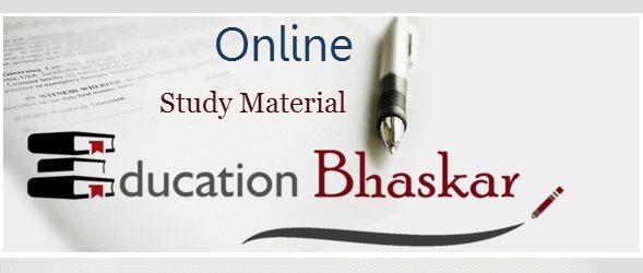 online study material education bhaskar