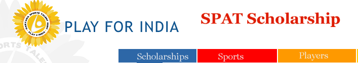 Play4India SPAT Scholarship logo