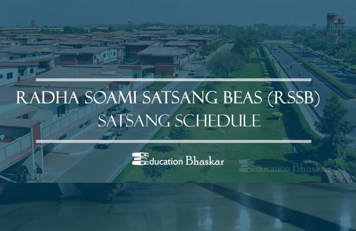 RSSB Beas Satsang Schedule