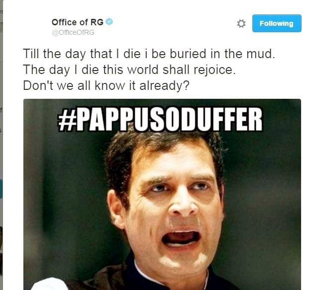Rahul Gandhi's hacked tweets