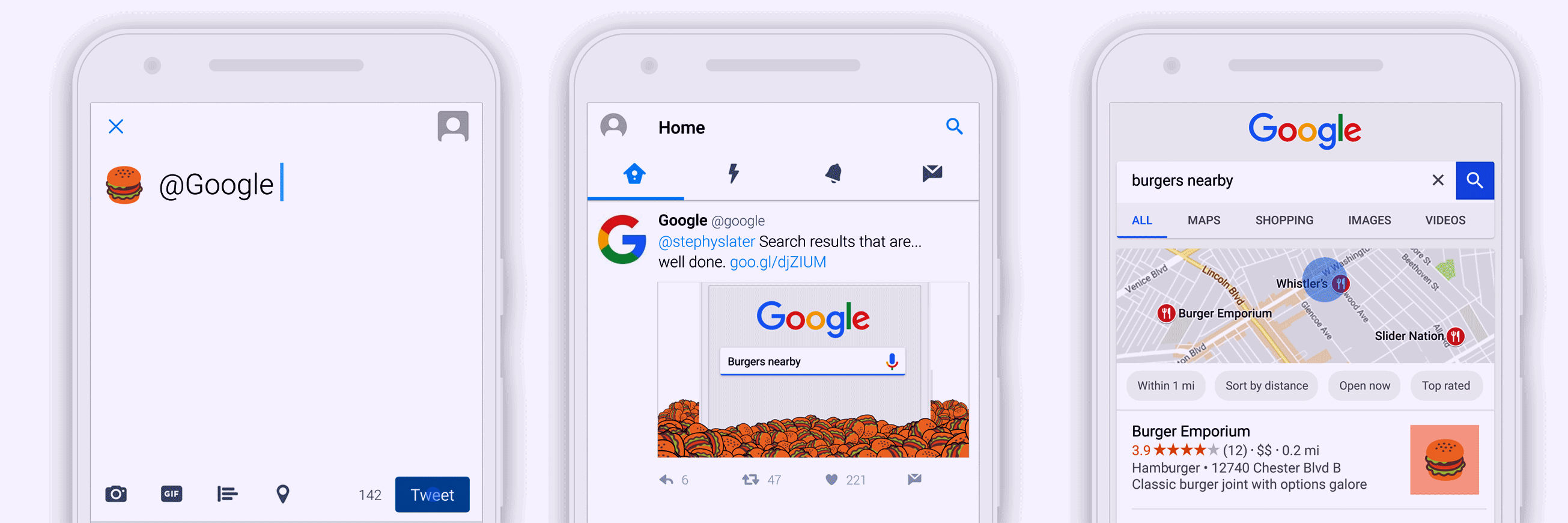 Tweet an Emoji to search on Google
