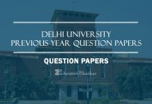 Delhi University previous DU Question papers
