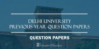 Delhi University previous DU Question papers