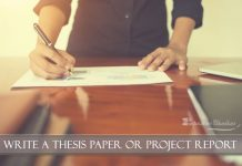 How to Write a Thesis Paper or Project Report