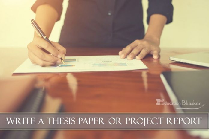 finding a thesis in a paper
