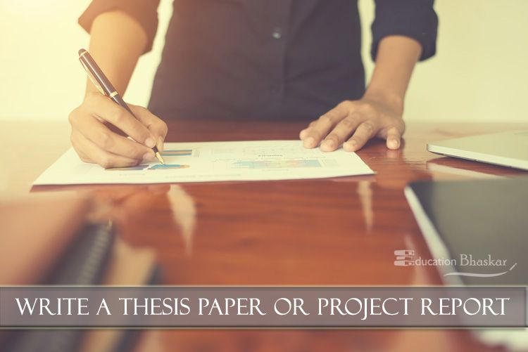 how to write a project paper