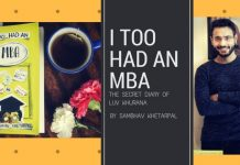 Sambhav Khetarpal book review, Sambhav Khetarpal author, I too had an MBA book review