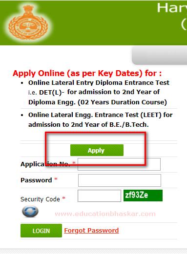 apply online haryana det