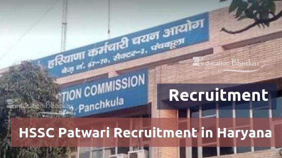 HSSC Patwari Recruitment 2019 in Haryana