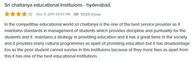 Sri-Chaitanya-student-Review